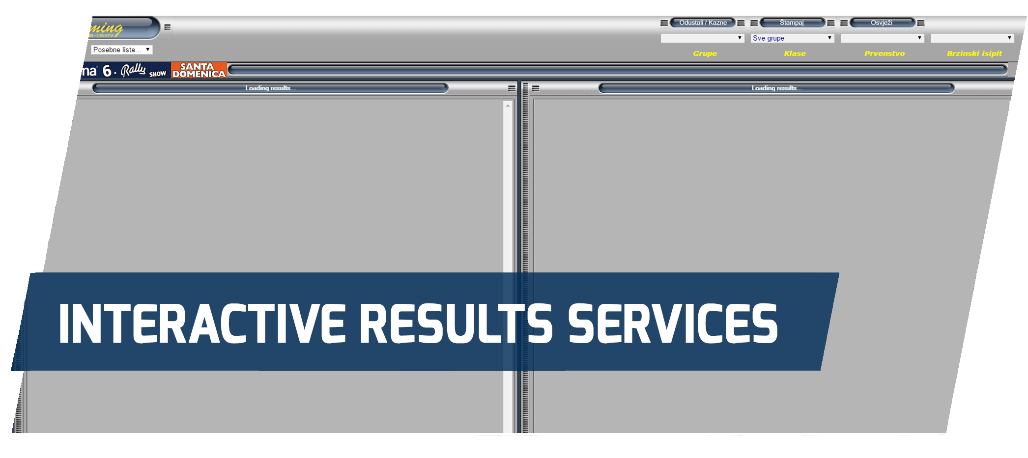 interactive results service